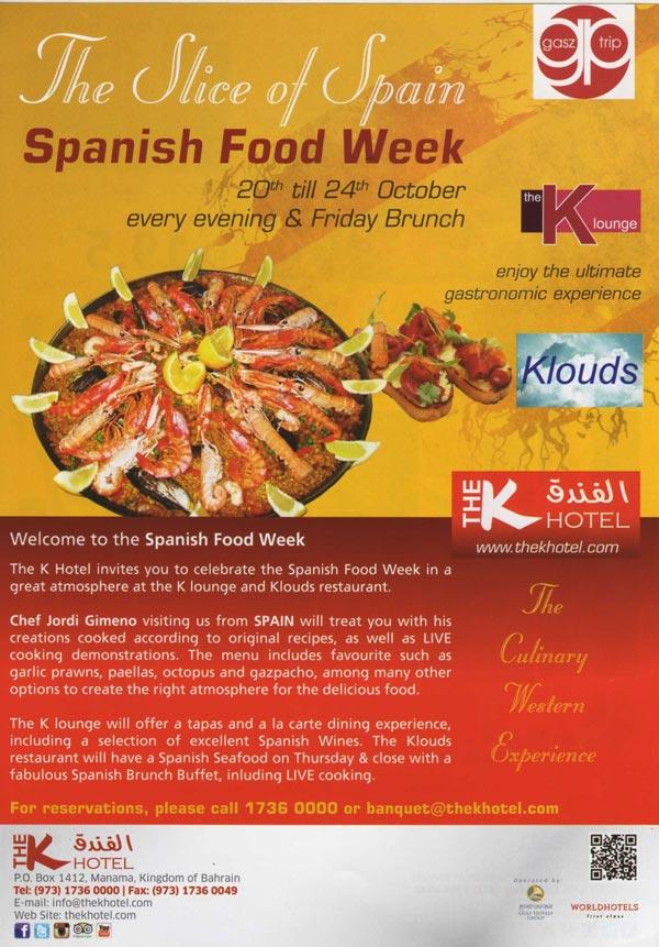 Spanish Food Festival Week